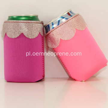 Prezenty ślubne Koronka Design Neoprene Can Holder Koozie